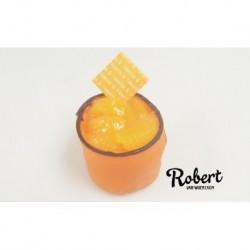 Oranje vruchten gebakje