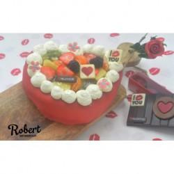 Vruchten hart taartje