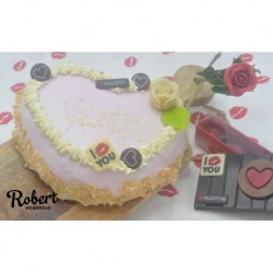 Valentijn Chipolata hart taartje