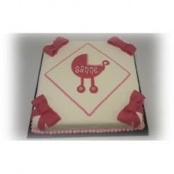 Geboorte taart Strik