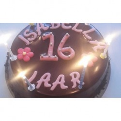 Chocolade verjaardags taart