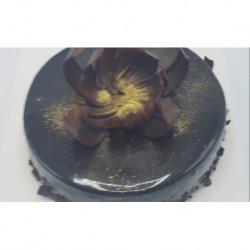 Chocolade-Aardbeien dessert