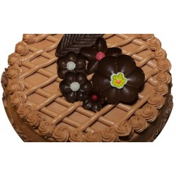 Chocolade creme taart 12 pers.